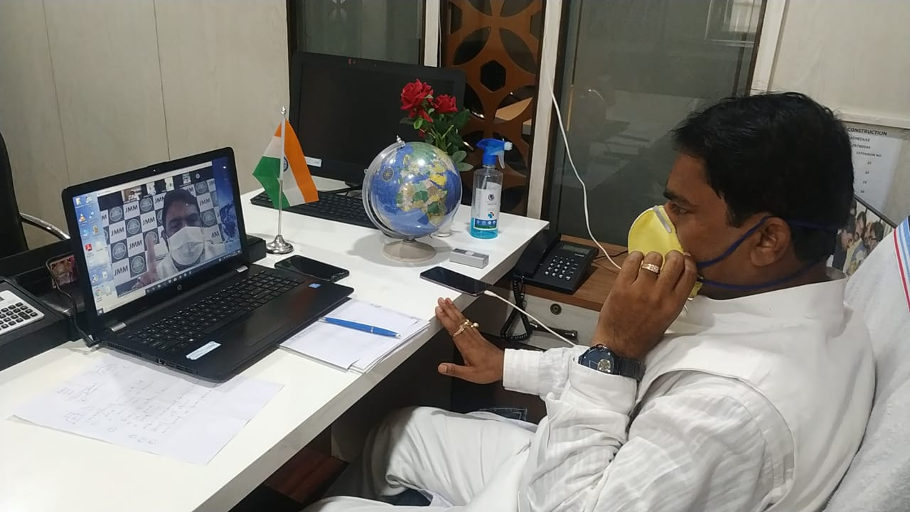 जेएमएम के प्रदेश महासचिव बिनोद पांडेयके द्वारा वीडियो कॉन्फ्रेंसिंग के जरिये जिला कमिटी की बैठक आयोजित