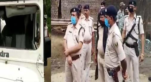 बालू माफिया का तांडव ; पुलिस टीम पर पथराव, दारोगा और हवलदार घायल
