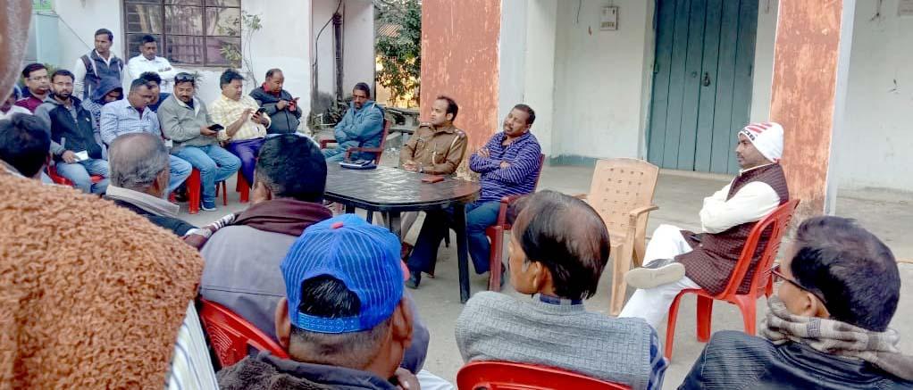 बरकट्ठा थाना में मकर संक्रांति को लेकर हुई बैठक